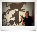 Smaller Scholar Shadow Puppetry
